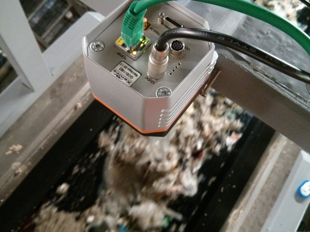 Thermal camera on waste stream